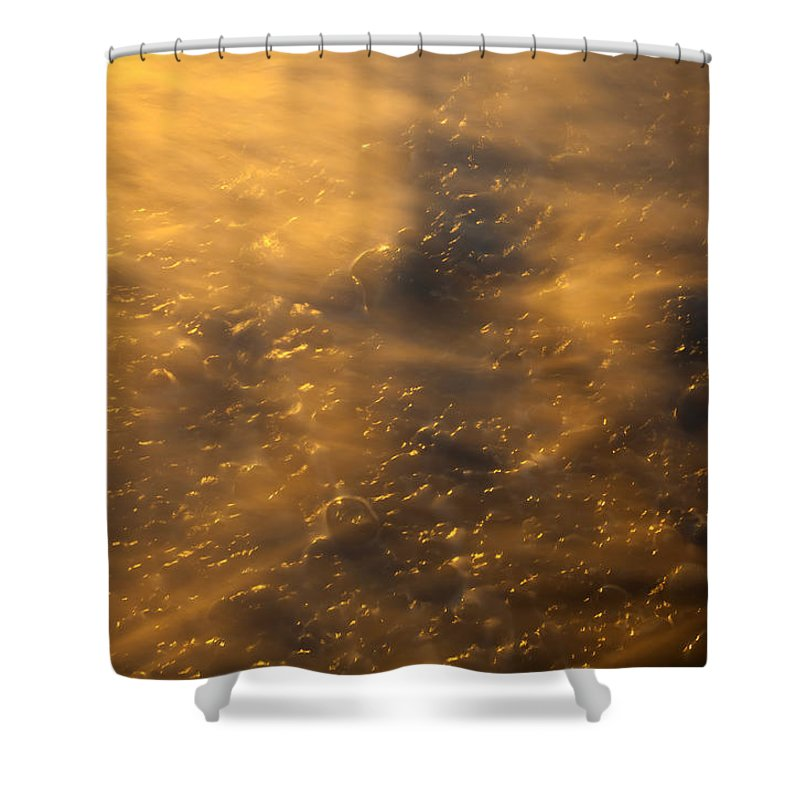 Tides Shower Curtain featuring the photograph Golden Light by Mike Dawson