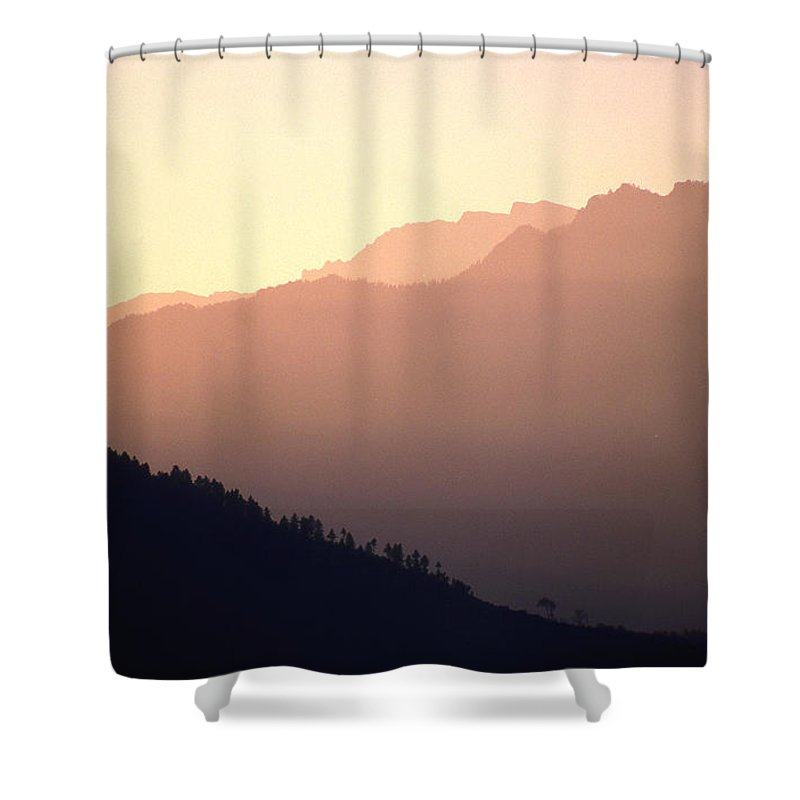 Langtang Shower Curtain featuring the photograph Golden Mountains by Patrick Klauss