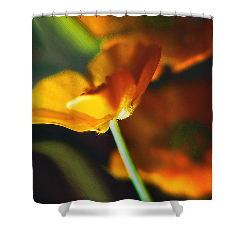 Flowers Shower Curtain featuring the photograph Golden Possibilities... by Arthur Miller