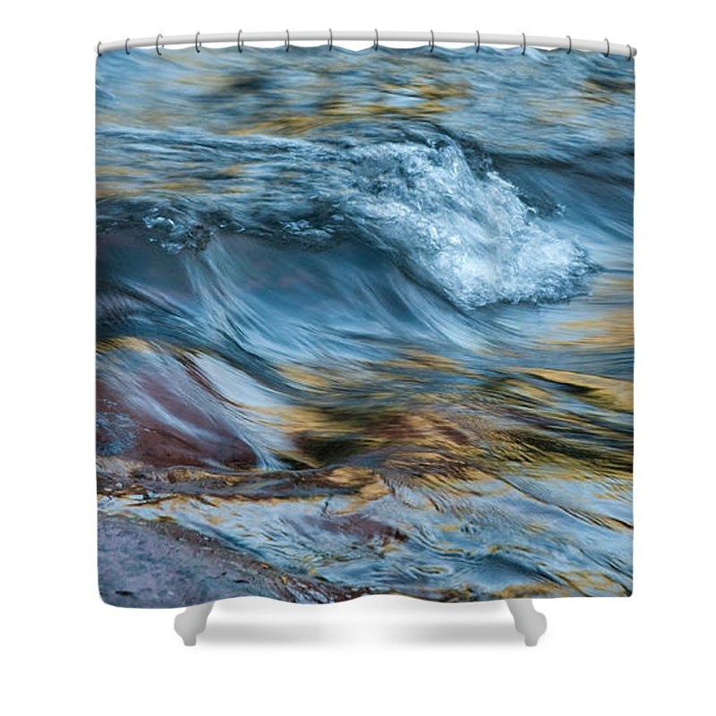 Rivers Shower Curtain featuring the photograph Golden Strands Of Water by Sandra Bronstein