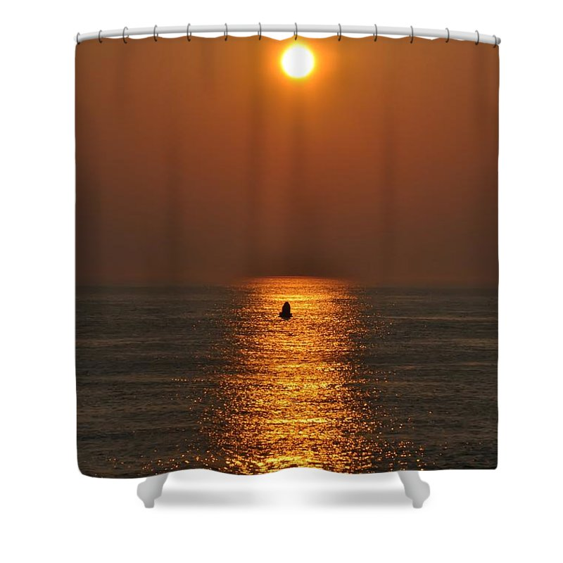 Sunrise Shower Curtain featuring the photograph Golden Sun by Bill Cannon