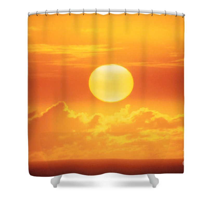Above Shower Curtain featuring the photograph Golden Sunball by Bob Abraham - Printscapes