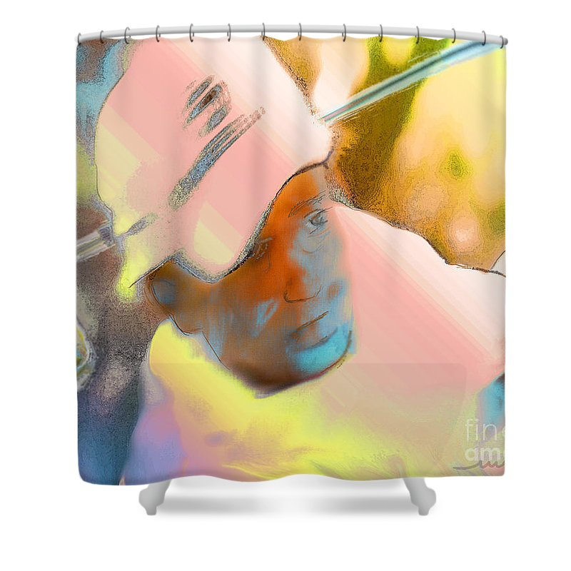 Golf Shower Curtain featuring the painting Golf Dream by Miki De Goodaboom