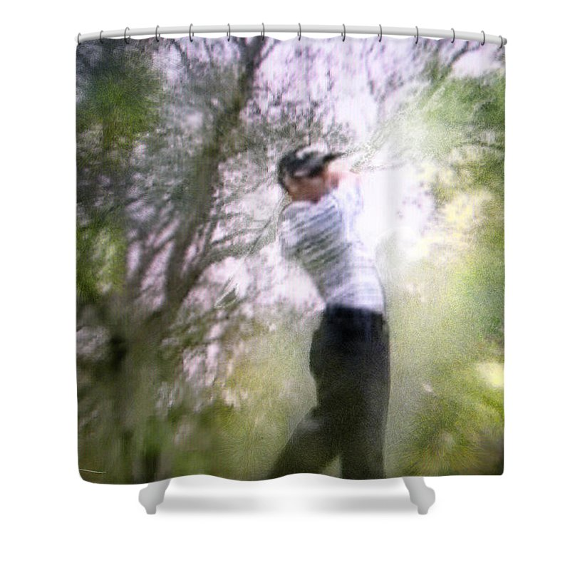 Golf Shower Curtain featuring the painting Golf Trophee Hassan II In Royal Golf Dar Es Salam Morocco 05 by Miki De Goodaboom