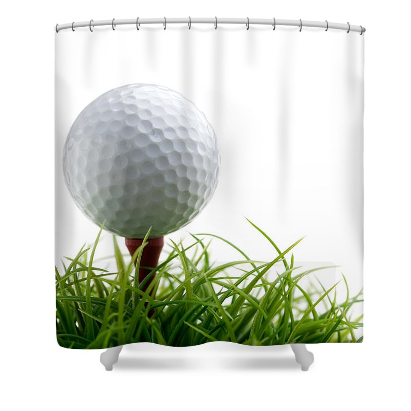 Activity Shower Curtain featuring the photograph Golfball by Kati Finell