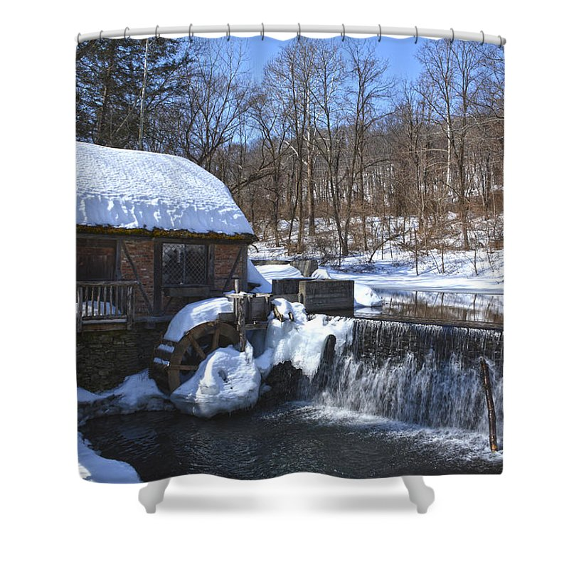 Landmark Shower Curtain featuring the photograph Gomez Mill House by Angelo Marcialis Melody Of Light Photography