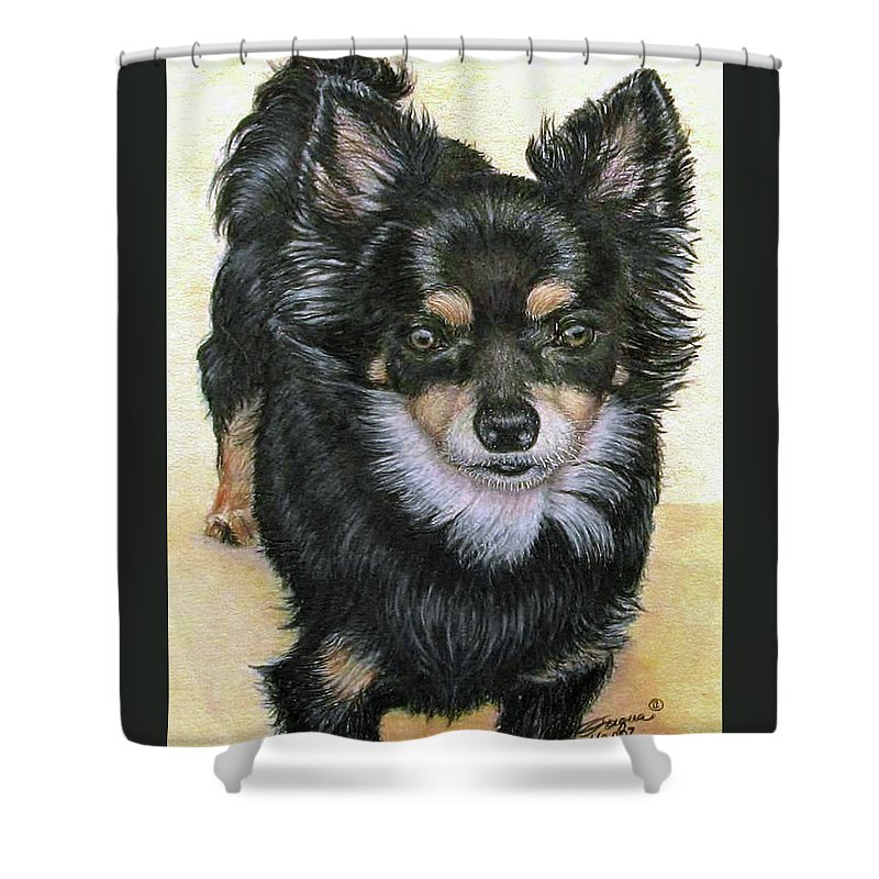Fuqua Gallery-bev-artwork Shower Curtain featuring the drawing Good Golly Miss Molly by Beverly Fuqua