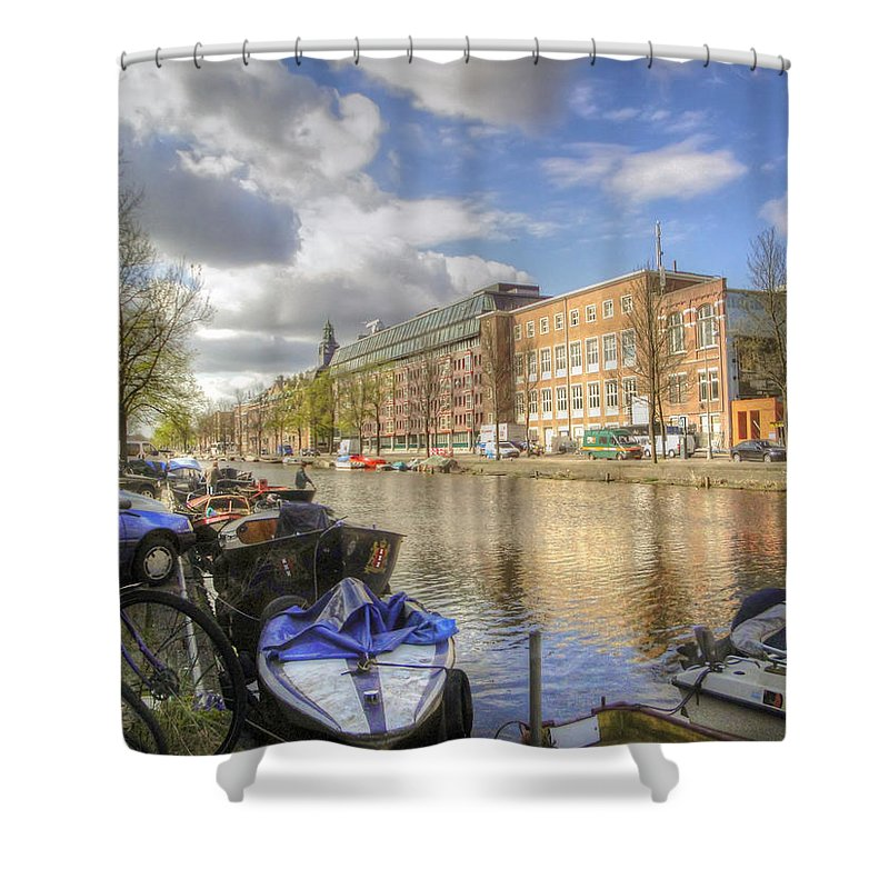 Amsterdam Shower Curtain featuring the photograph Good Morning Amsterdam by Dolly Sanchez
