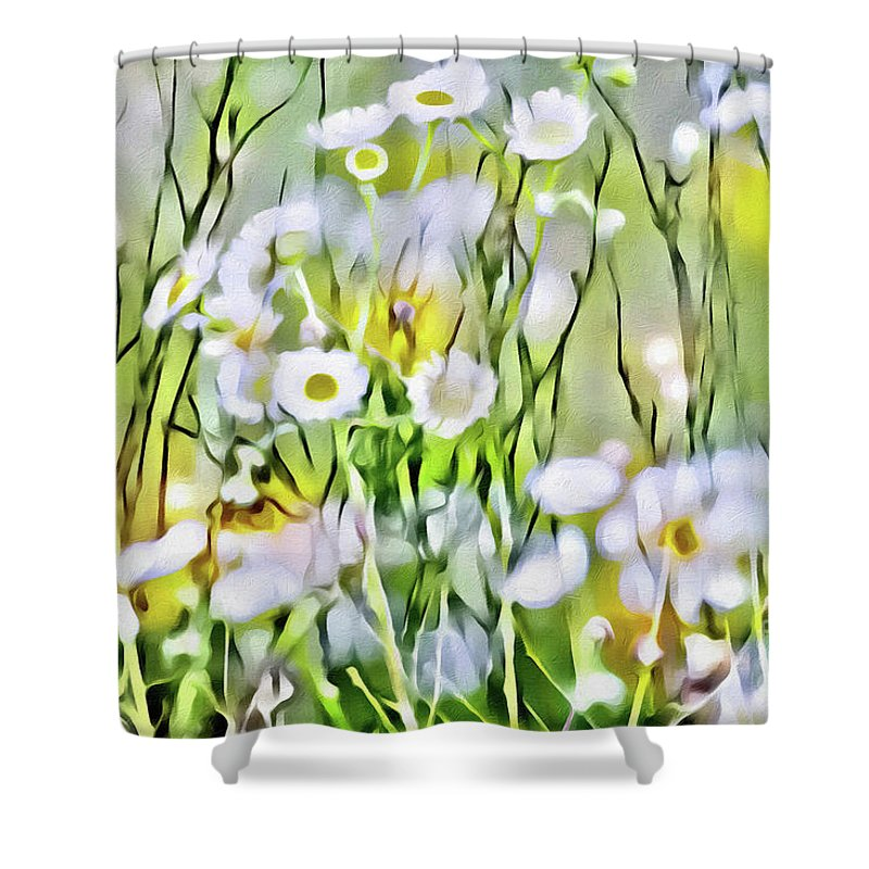 Spring Shower Curtain Featuring The Photograph Good Morning By Margaret Koc