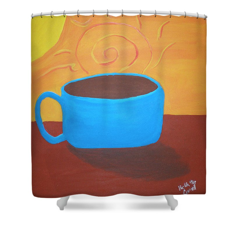 Good Morning Sunshine Shower Curtain featuring the painting Good Morning Sunshine by Beth Cornell