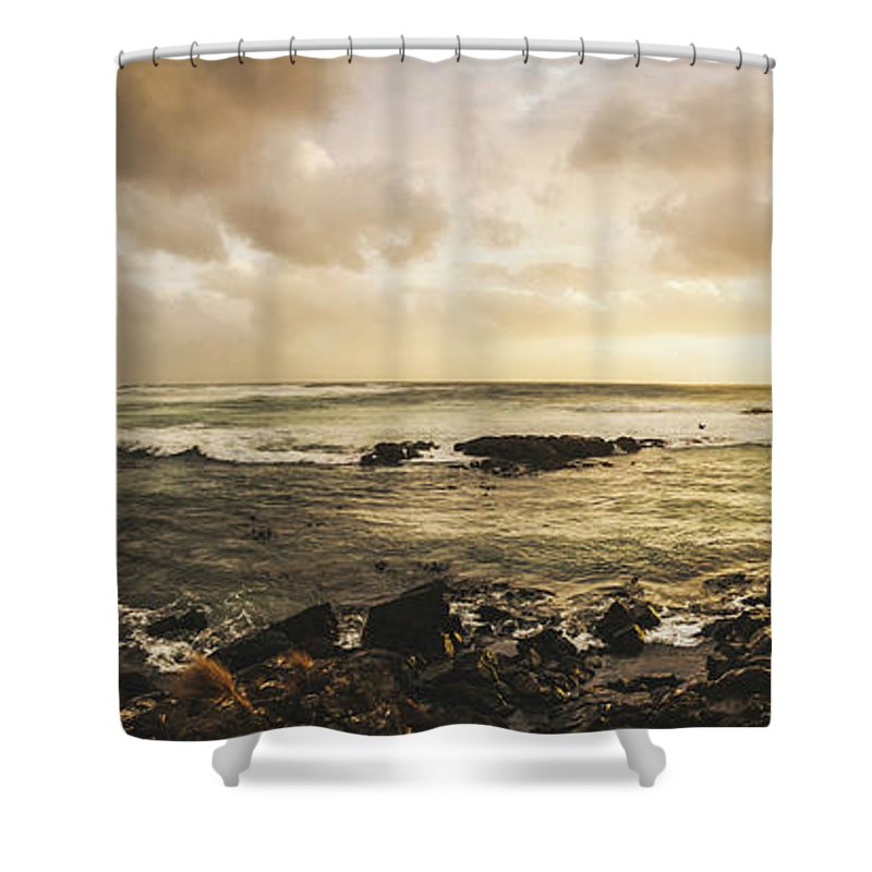 Beach Shower Curtain featuring the photograph Goodbye Sunshine by Jorgo Photography - Wall Art Gallery