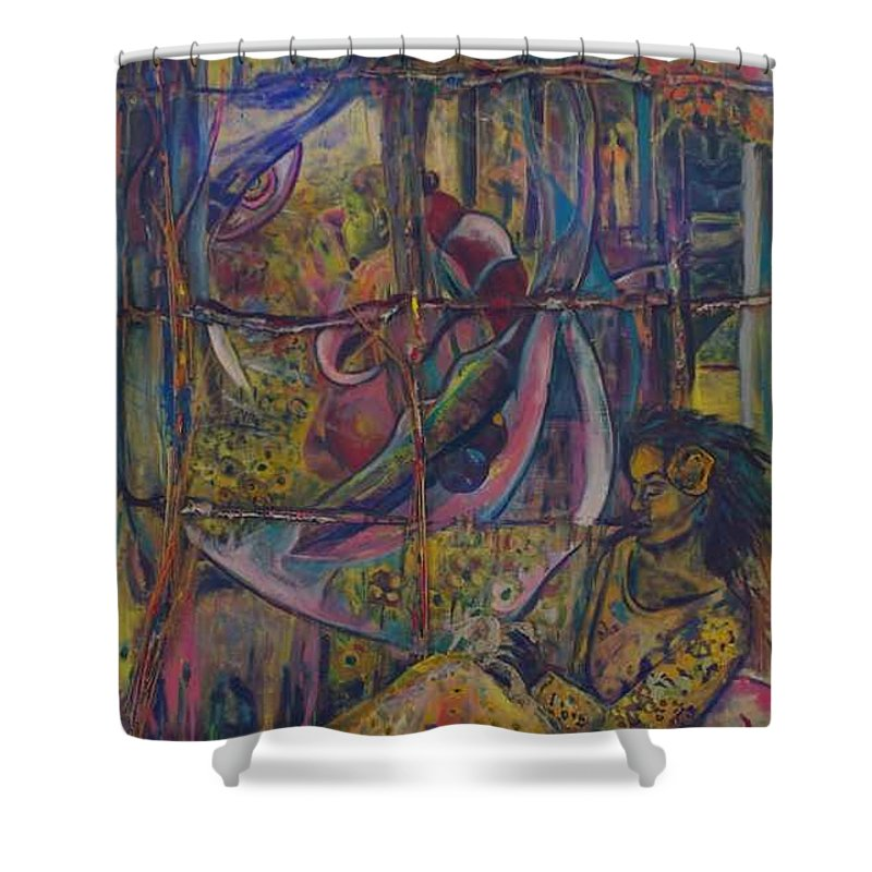 Mother Shower Curtain featuring the painting Goodbye Sweet Dreams by Peggy Blood