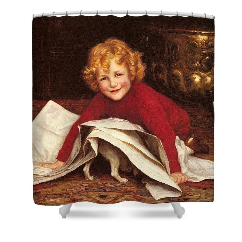 People Shower Curtain featuring the digital art Gore William Henry Playmates William Henry Gore by Eloisa Mannion