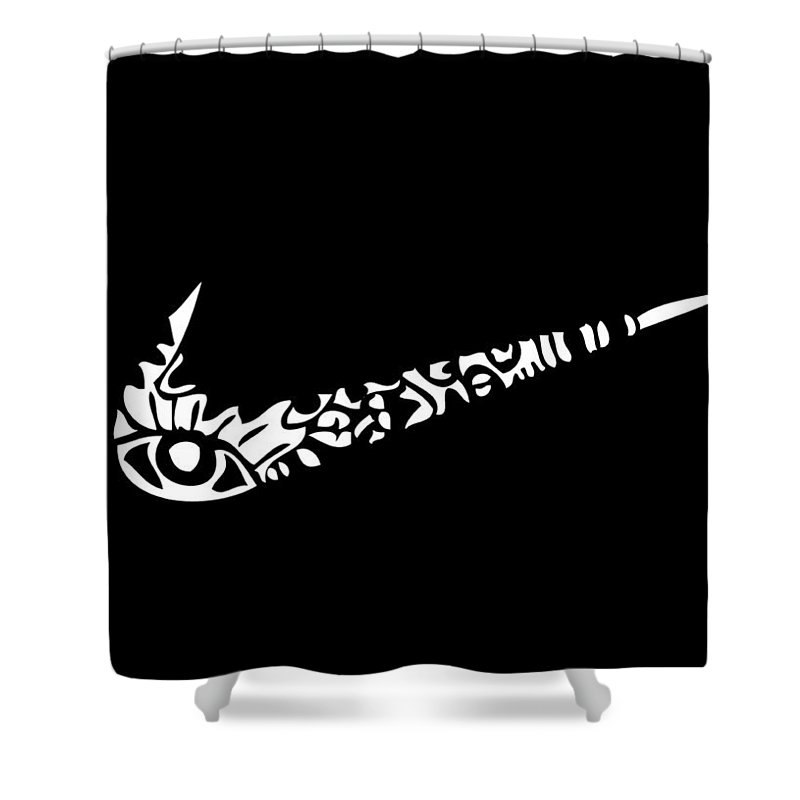 Nike Shower Curtain featuring the digital art Got You All In Check by Kamoni Khem