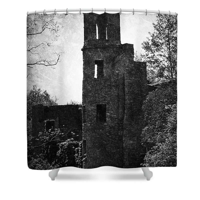 Irish Shower Curtain featuring the photograph Gothic Tower At Blarney Castle Ireland by Teresa Mucha