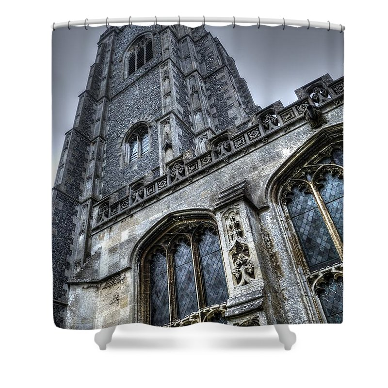 Church Shower Curtain featuring the photograph Gothic by Vicki Spindler