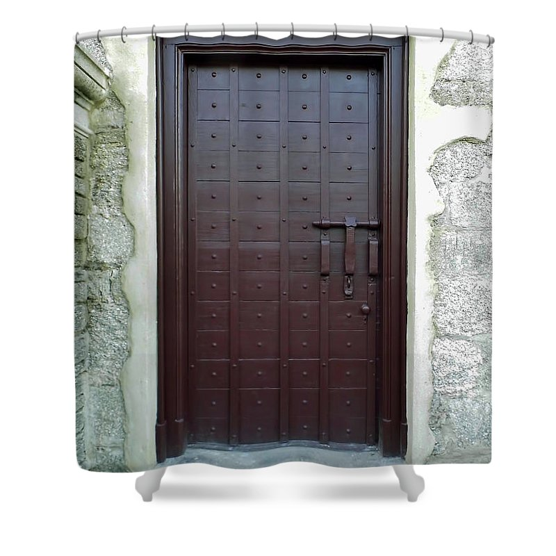 Door Shower Curtain featuring the photograph Governors Door by D Hackett