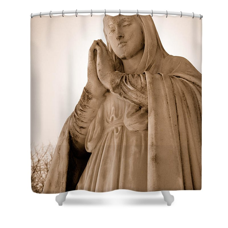 Mary Shower Curtain featuring the photograph Grace by Joe Ng