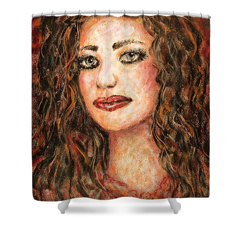 Grace Shower Curtain featuring the painting Grace by Natalie Holland