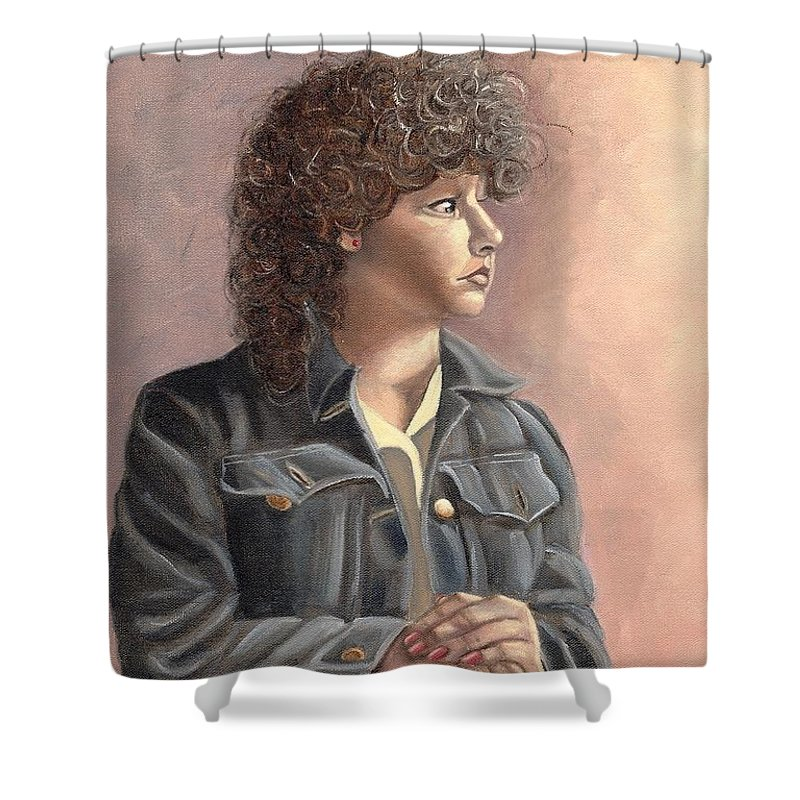 Shower Curtain featuring the painting Grace by Toni Berry