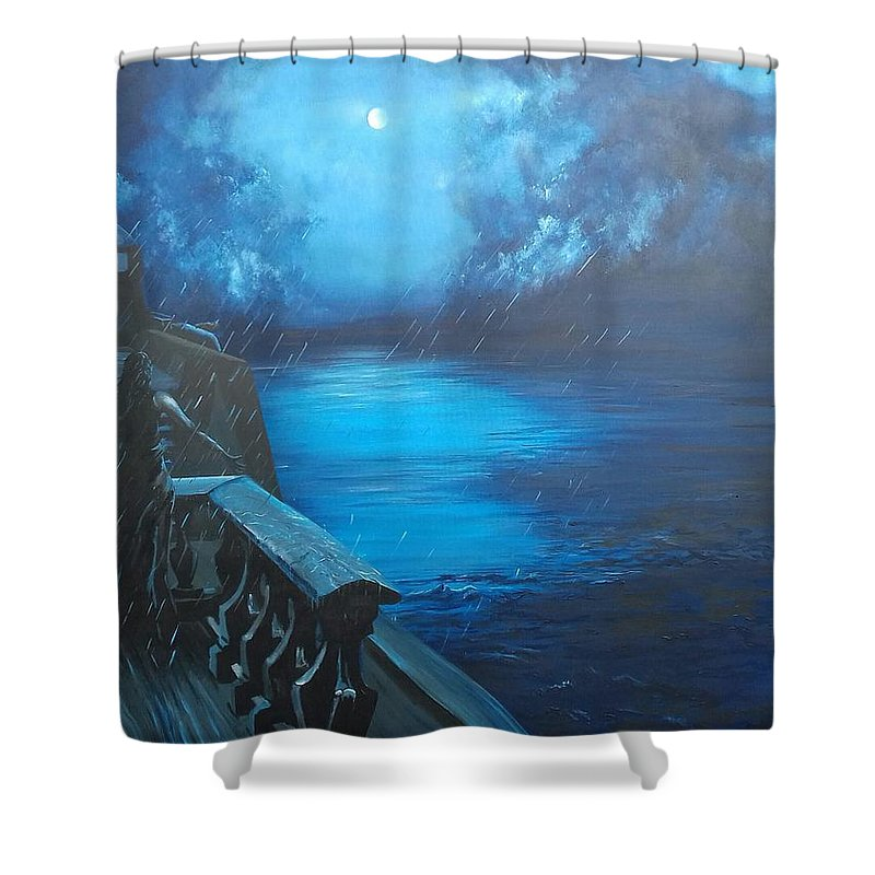 Grace Shower Curtain featuring the painting Grace. by Warren Faye