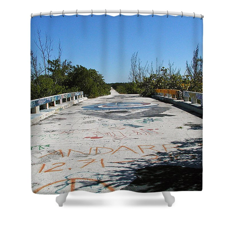U.s. 1 Shower Curtain featuring the photograph Graffiti Bridge by Forrest Shaw