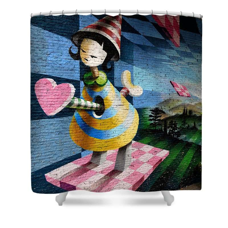 Graffiti Shower Curtain featuring the photograph Graffiti Girl by Harry Coburn