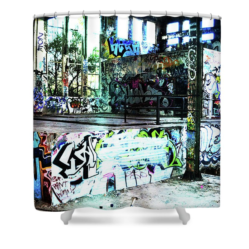 Graffiti Shower Curtain featuring the photograph Graffiti by Phill Petrovic