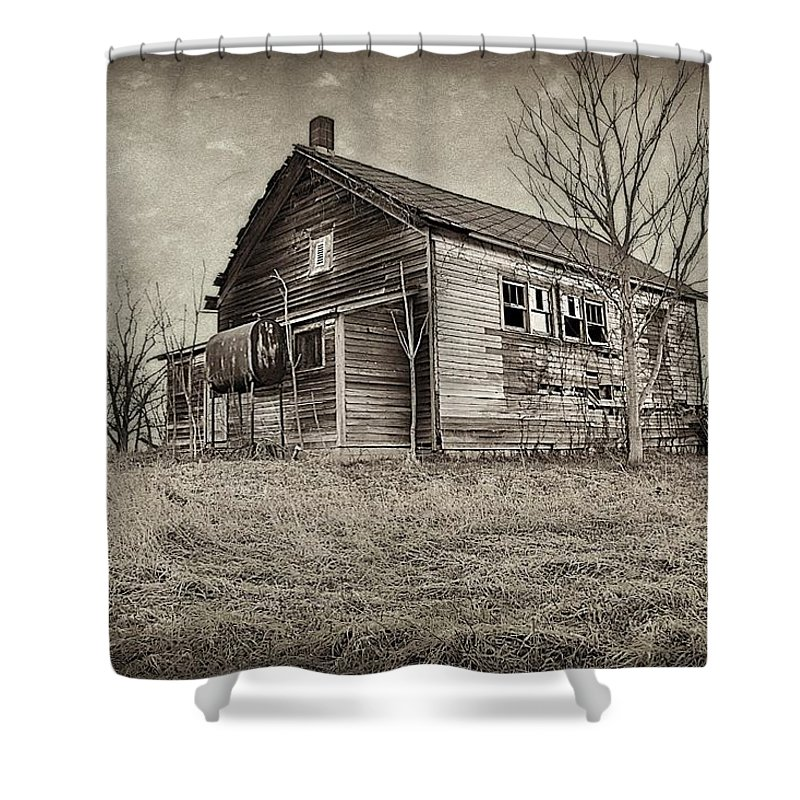 Depots Shower Curtain featuring the photograph Grain Weigh Depot by Toni Abdnour