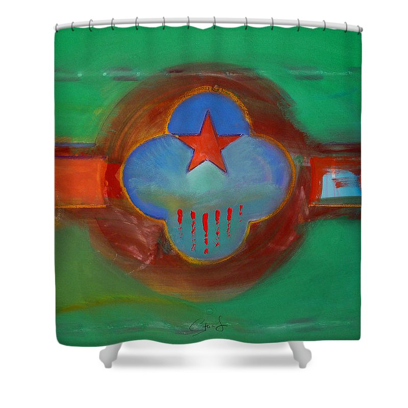 Star Shower Curtain featuring the painting Grand Canal by Charles Stuart