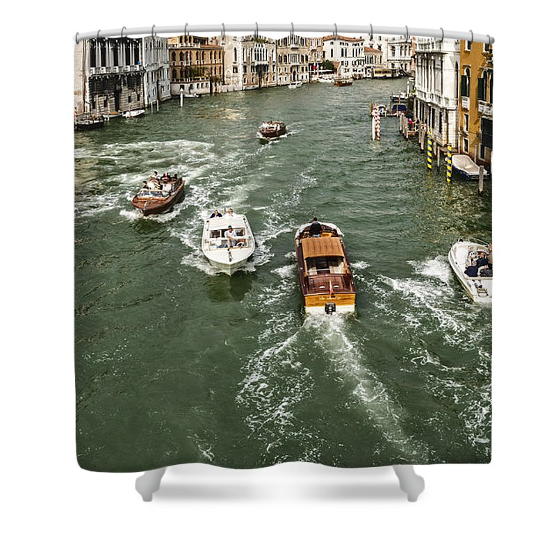 Venice Shower Curtain featuring the photograph Grand Canal by David Kay