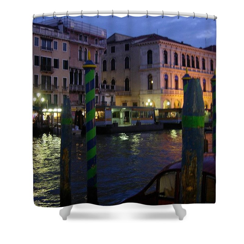 Venice Shower Curtain featuring the photograph Grand Canal by Maria Joy