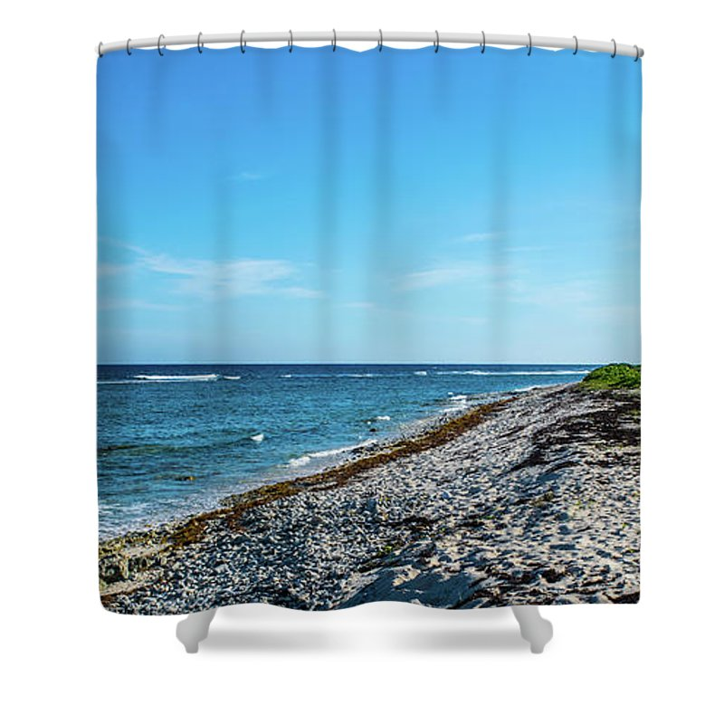 Grand Cayman Island Shower Curtain featuring the photograph Grand Cayman Island Caribbean Sea 2 by Robert Edgar