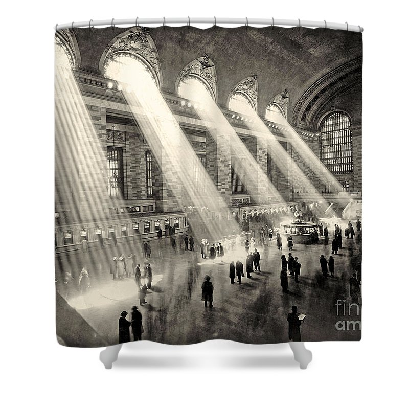Grand Central Shower Curtain featuring the photograph Grand Central Terminal, New York In The Thirties by American School