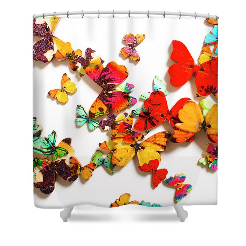 Butterfly Shower Curtain featuring the photograph Grand Merger Of Unification by Jorgo Photography - Wall Art Gallery