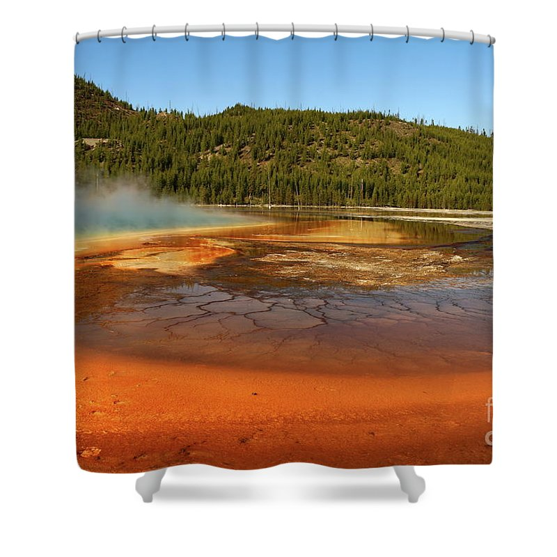 Park Shower Curtain featuring the photograph Grand Prismatic Spring by Christiane Schulze Art And Photography
