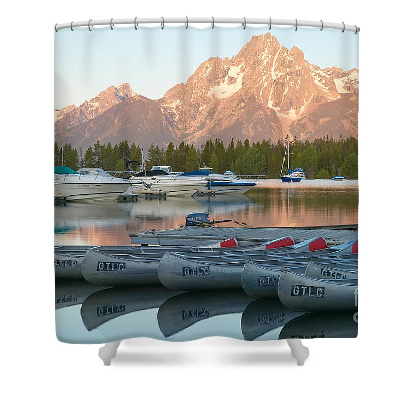 Clarence Holmes Shower Curtain featuring the photograph Grand Teton Dawn III by Clarence Holmes