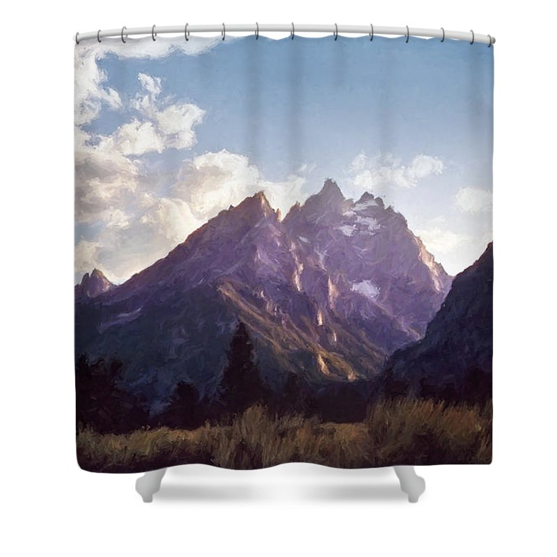 Grand Teton National Park Shower Curtain featuring the photograph Grand Teton by Scott Norris