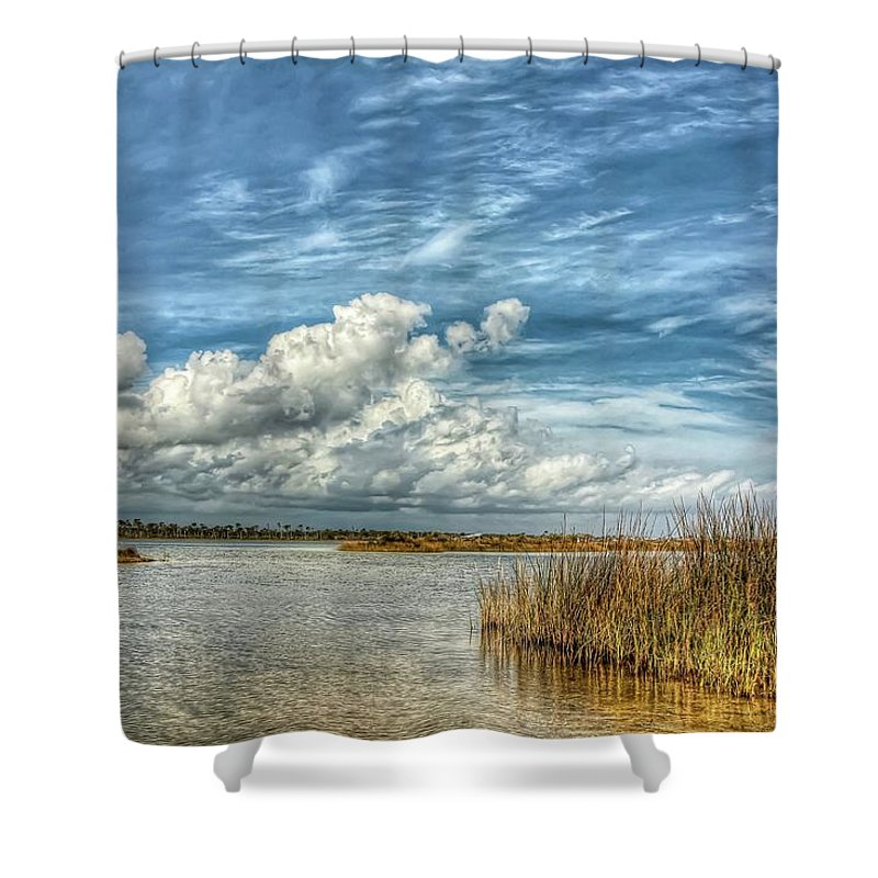 Perdido Key Shower Curtain featuring the photograph Grande Lagoon by Gary Oliver