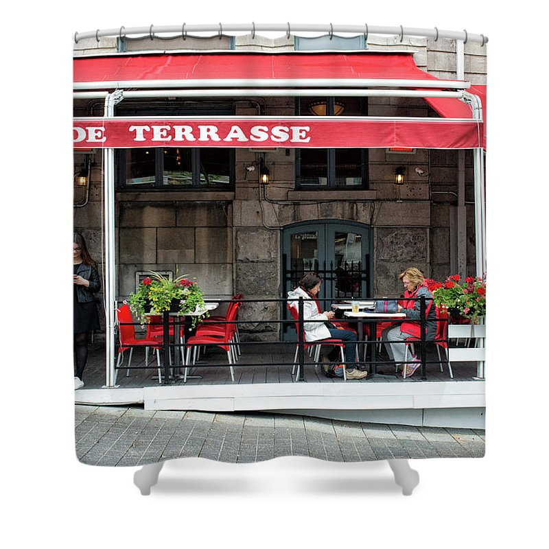 Montreal Shower Curtain featuring the photograph Grande Terrasse In Montreal by Michael Gallitelli