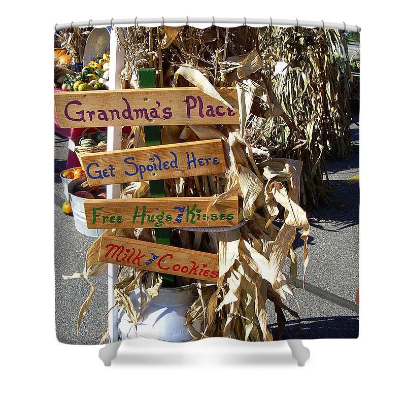 Grandma Shower Curtain featuring the photograph Grandma's Place Get Spoiled Here by Kent Lorentzen