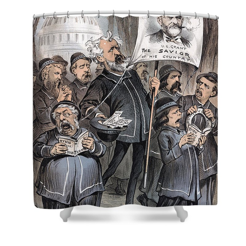 1880 Shower Curtain featuring the photograph Grant Cartoon, 1880 by Granger