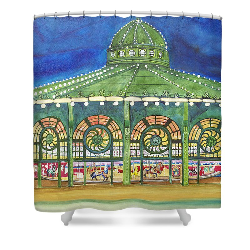 Night Paintings Of Asbury Park Shower Curtain featuring the painting Grasping The Memories by Patricia Arroyo