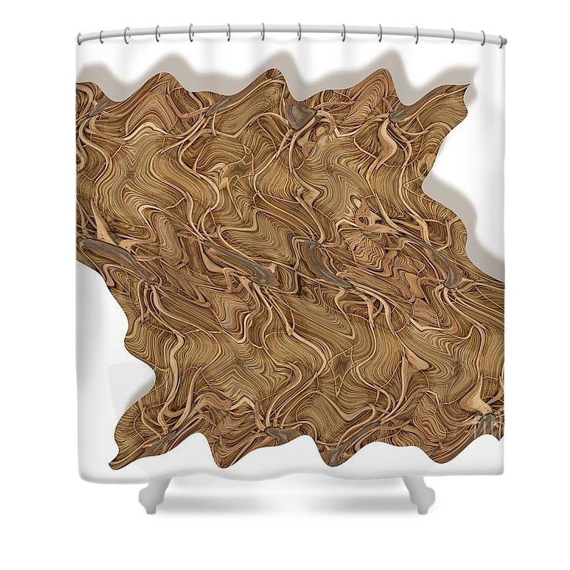 Abstract Shower Curtain featuring the digital art Grass Works by Ron Bissett