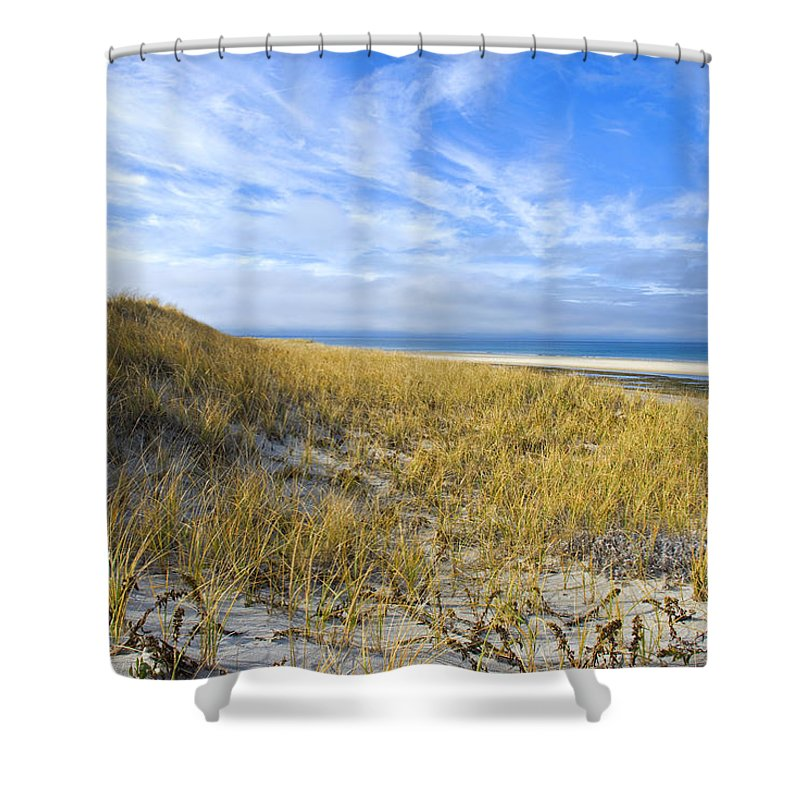 Dunes Shower Curtain featuring the photograph Grassy Dunes by Charles Harden