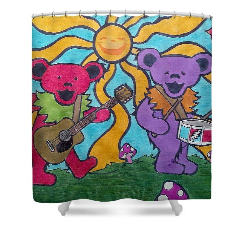Grateful Dead Bears Shower Curtain For Sale By John Cunnane