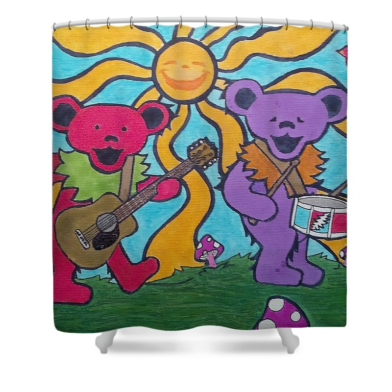 Grateful Dead Bears Shower Curtain For Sale By John Cunnane