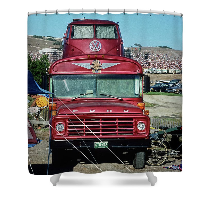 Grateful Dead Tour Bus Shower Curtain