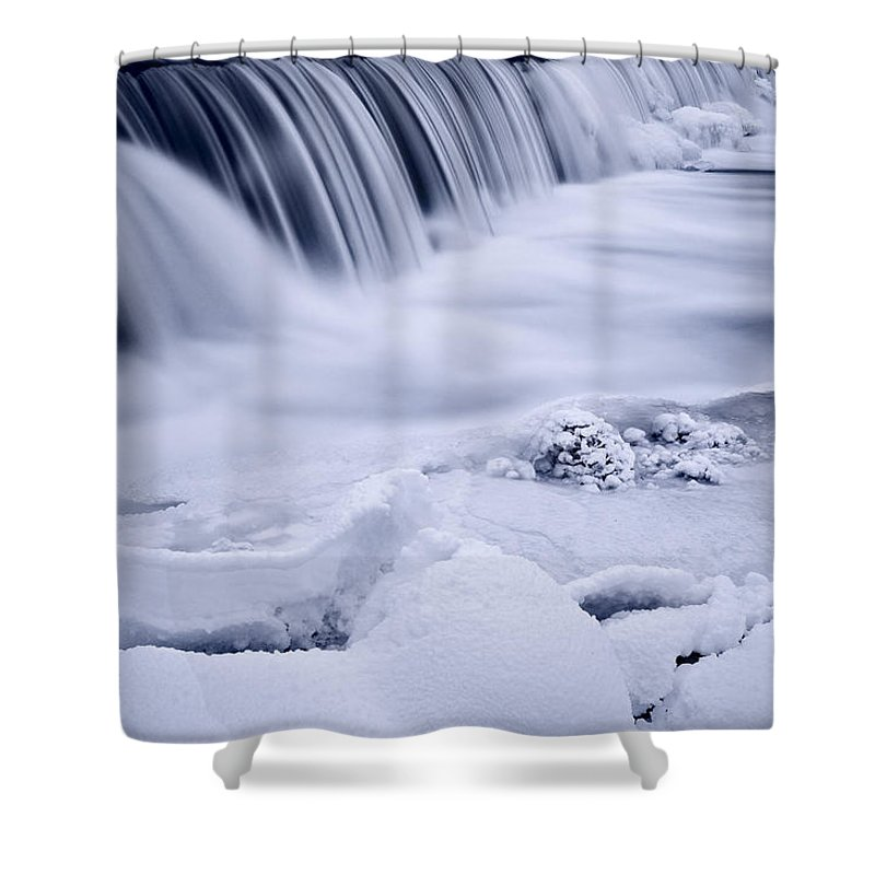 Graue Shower Curtain featuring the photograph Graue Mills Falls by Steve Gadomski