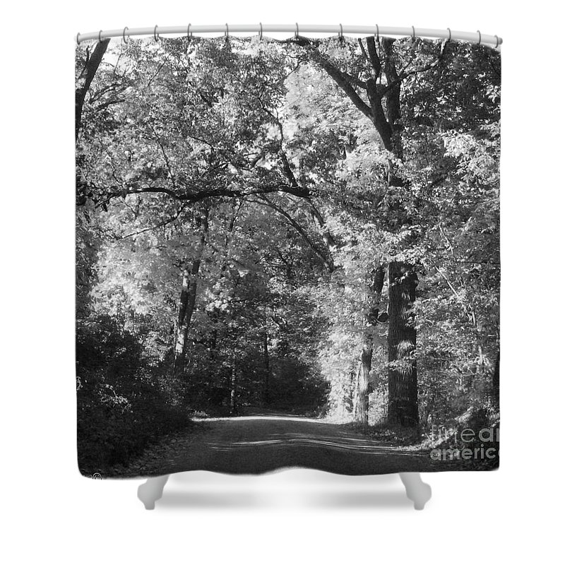 Back Shower Curtain featuring the photograph Graves Rd by September Stone